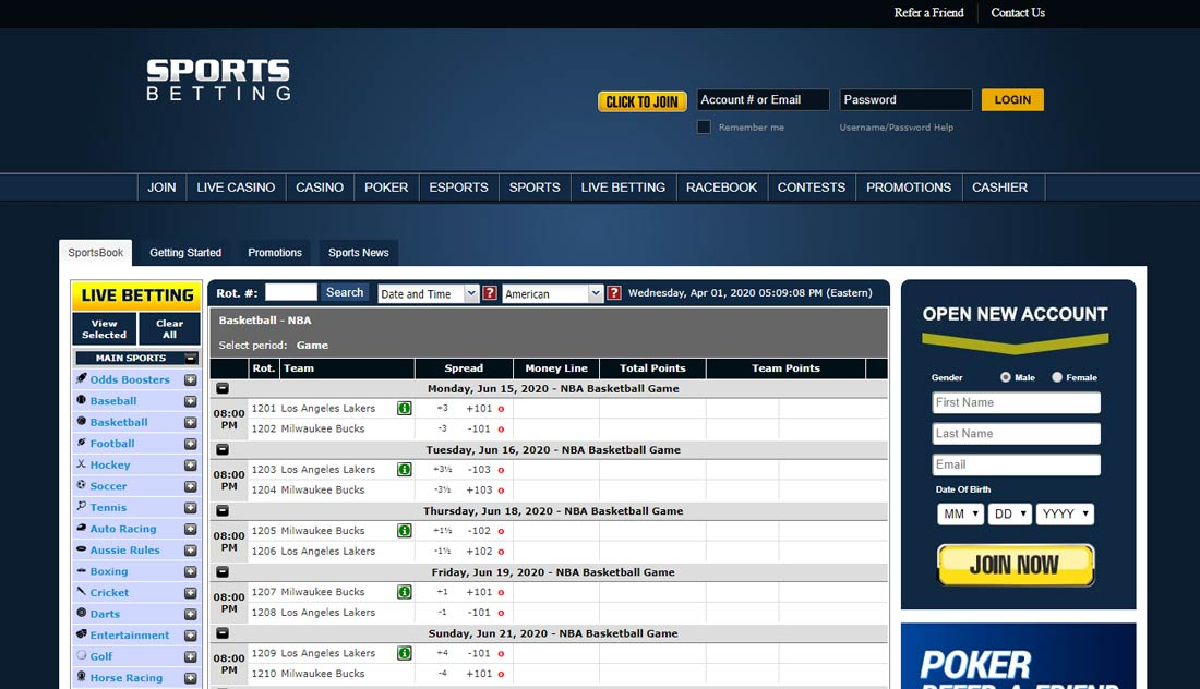 SportsBetting Super Bowl Betting