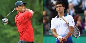 Tiger Woods and Novak Djokovic